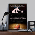 (CV998) LHD Basketball Poster - Dad to my basketball son - Never lose