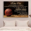 (cv762) QH basketball Poster - dad to daughter - never lose french version