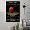(cv812) LHD basketball poster - Dad to Son - never feel that