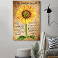 (CV786) LHĐ Sunflower Poster - Dad to daughter - always remember