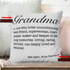 Personalized Grandma Definition Throw Pillow