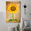 (CV789) LHĐ Sunflower Poster - Papa to granddaughter - everyday that you