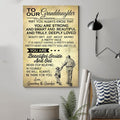 (cv943) LHD family poster - grandma&grandpa to granddaughter - may you always