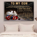 (cv961) LHD hockey poster - Dad to Son - never feel that