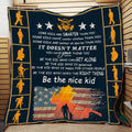 (Ql55) VA firefighter quilt - be the nice kid
