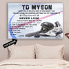 (CT215) Hockey Poster - to my son - custom LDA