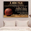 (cv765) QH basketball Poster - mom to son - never lose french version