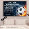 (CT216) Football Poster - to my son - custom LHD