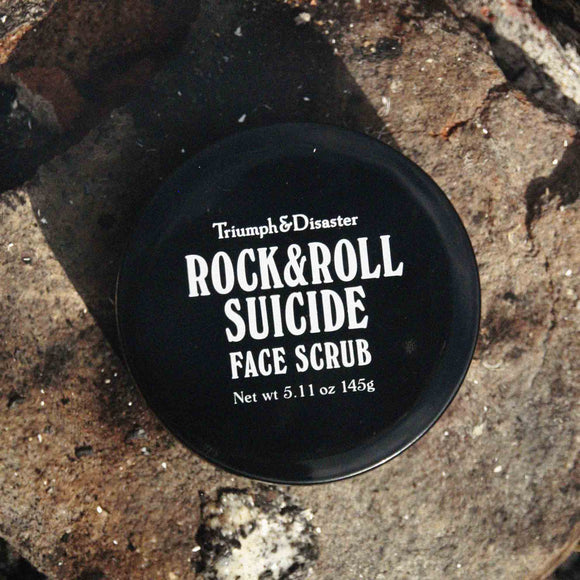 Rock & Roll Suicide Face Scrub, Cleansing, Triumph & Disaster, Worthy and Spruce - 1