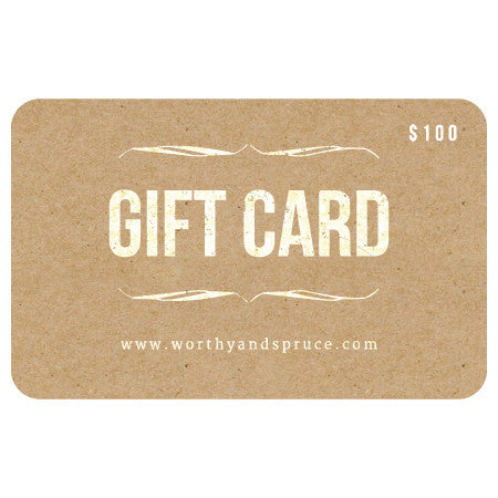 Gift Card, Gift Card, Worthy & Spruce, Worthy and Spruce - 1