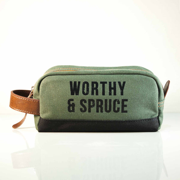 Dopp Kit Toiletry Bag, Miscellaneous, Worthy & Spruce, Worthy and Spruce - 1