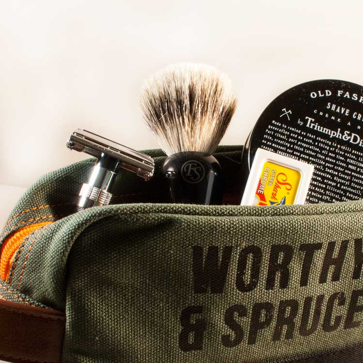 Essential Classic Shave Tool Kit, Shaving, Worthy & Spruce, Worthy and Spruce - 2