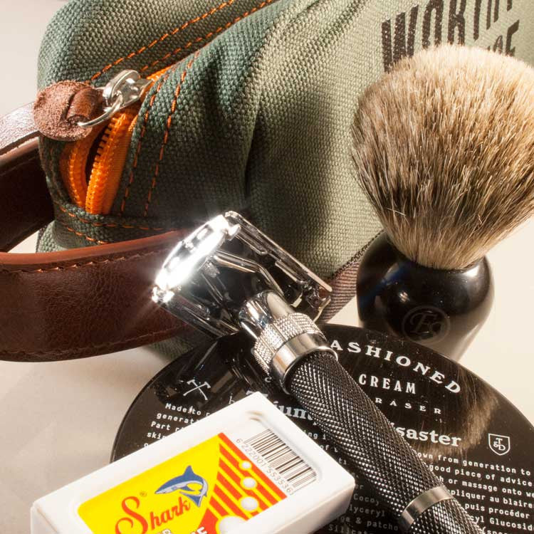 Essential Classic Shave Tool Kit, Shaving, Worthy & Spruce, Worthy and Spruce - 3