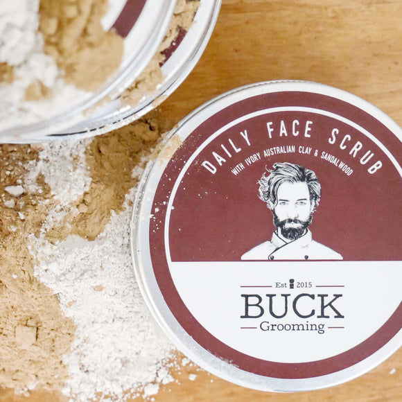 Daily Face Scrub, Cleansing, Buck Grooming, Worthy and Spruce - 1