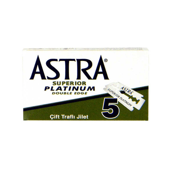 Superior Platinum Razor Blades, Shaving, Astra, Worthy and Spruce - 1