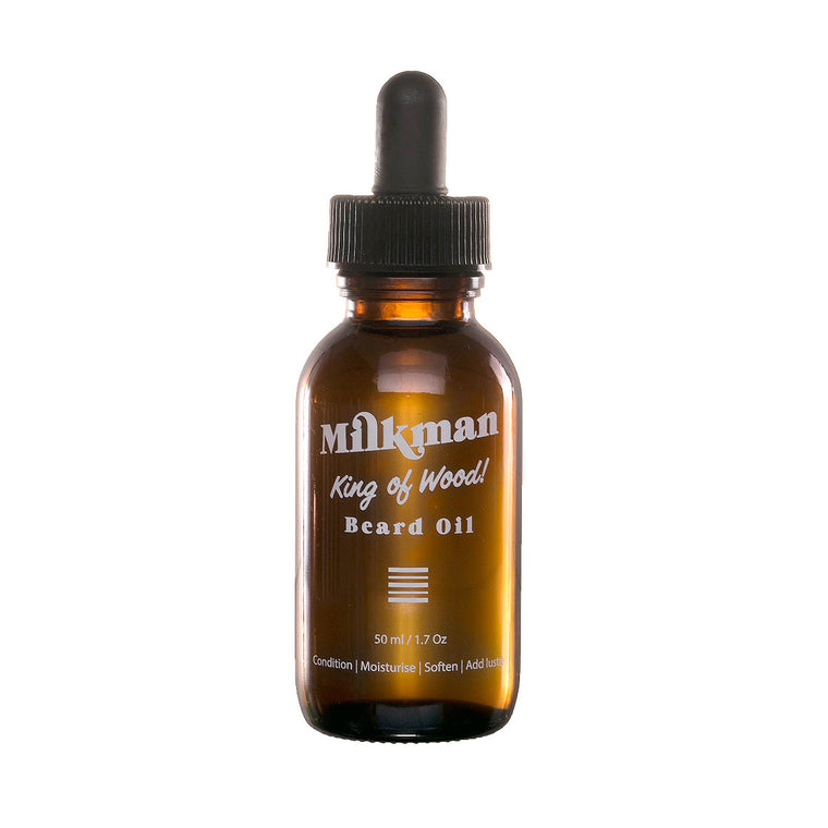 King of Wood Beard Oil, Beard Care, Milkman Australia, Worthy and Spruce