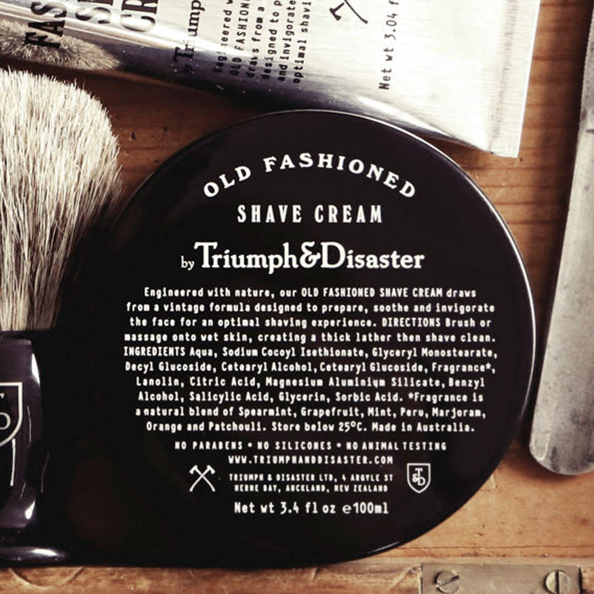 Old Fashioned Shave Cream, Shaving, Triumph & Disaster, Worthy and Spruce - 4