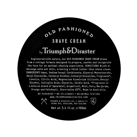 Old Fashioned Shave Cream, Shaving, Triumph & Disaster, Worthy and Spruce - 1