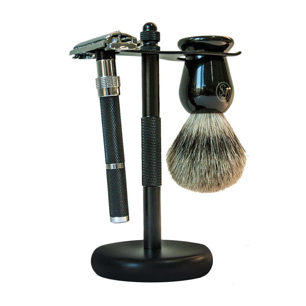 Classic Matte Black Shaving Stand, Shaving, Frank Shaving, Worthy and Spruce - 3