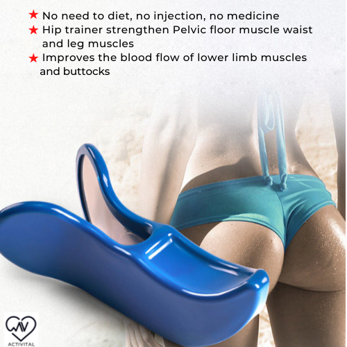 Hip and pelvic floor muscle trainer