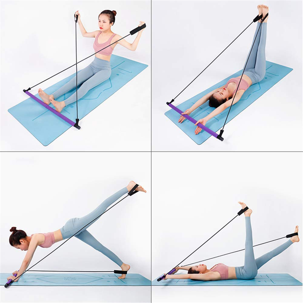 Portable Fitness Pilates Bar with resistance bands for your home gym