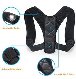 Posture Corrector for Man Woman Adult Students Children-Adjustable Upper Back Brace For Clavicle Support and Providing Pain Relief