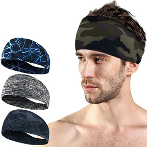 Headbands for Men Women Mens Sweatband Sports Headband Moisture Wicking Workout Sweatbands Yoga Hair Bands Head Sweat