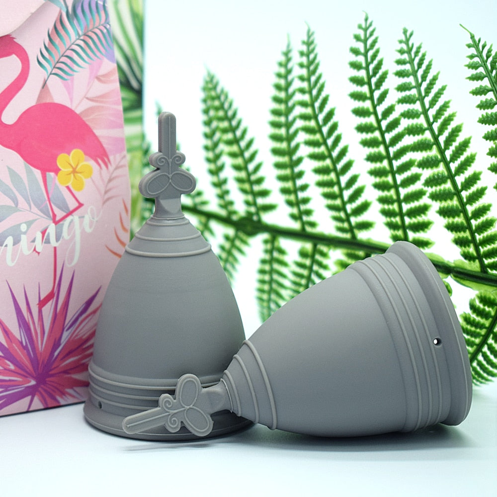 Medical Silicone Menstrual Cup For Women Period Cups Reusable Feminine Hygiene Cup Foldable Silicone Cup