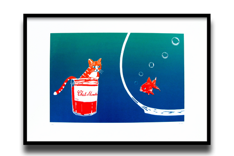 Marmalade Cat, vibrant colour blend mini
