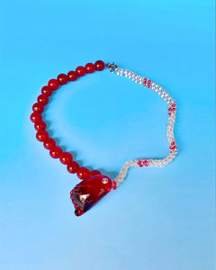RED FOOT NECKLACE