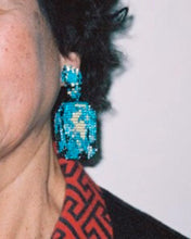Load image into Gallery viewer, BLUE BEADING EARRINGS