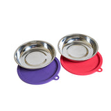 Stainless Steel cat bowls with air tight lids