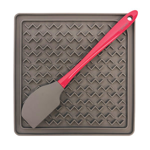 Therapeutic Lick mat with spatula- Silicone for easy cleaning and non slip