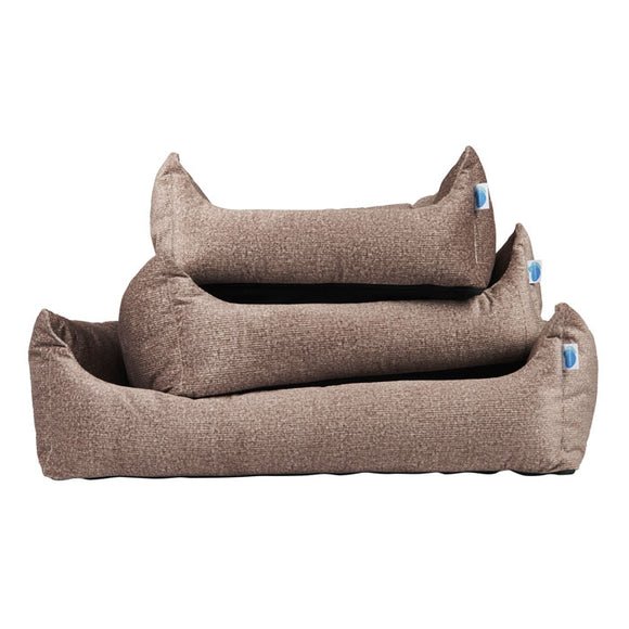 Divine Bolster Dog Bed with Probiotic Technology for Natural, Non-Toxic Odor Control