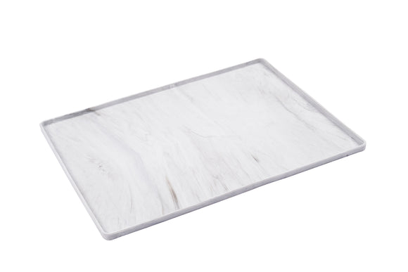 Silicone Non-Slip Pet Bowl Mat with Raised Edge, Small, Small, 16
