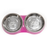 Totally Catty Purple Double Diner, Medium, 1.75 Cups Per Bowl, 3 Colors Available