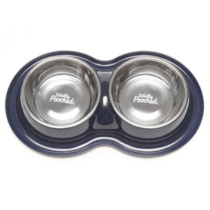 Totally Pooched Double Diner, Large, 3 Cups Per Bowl, 4 Colors Available