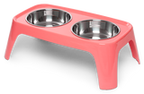 "Totally Pooched Melamine Elevated Feeder, Medium, 1.5 Cups Per Bowl, 4.5"" High, 4 Colors"