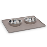 "Silicone Non-Slip Pet Bowl Mat with Raised Edge, Small, 16"" x 12"", 2 Colors Available"