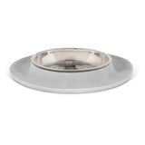 Single Silicone Feeder with Stainless Saucer Shaped Bowl, 1.75 Cups, Marble