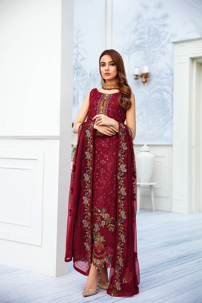A-205 Ramsha Embroidered Chiffon Chevron Collection