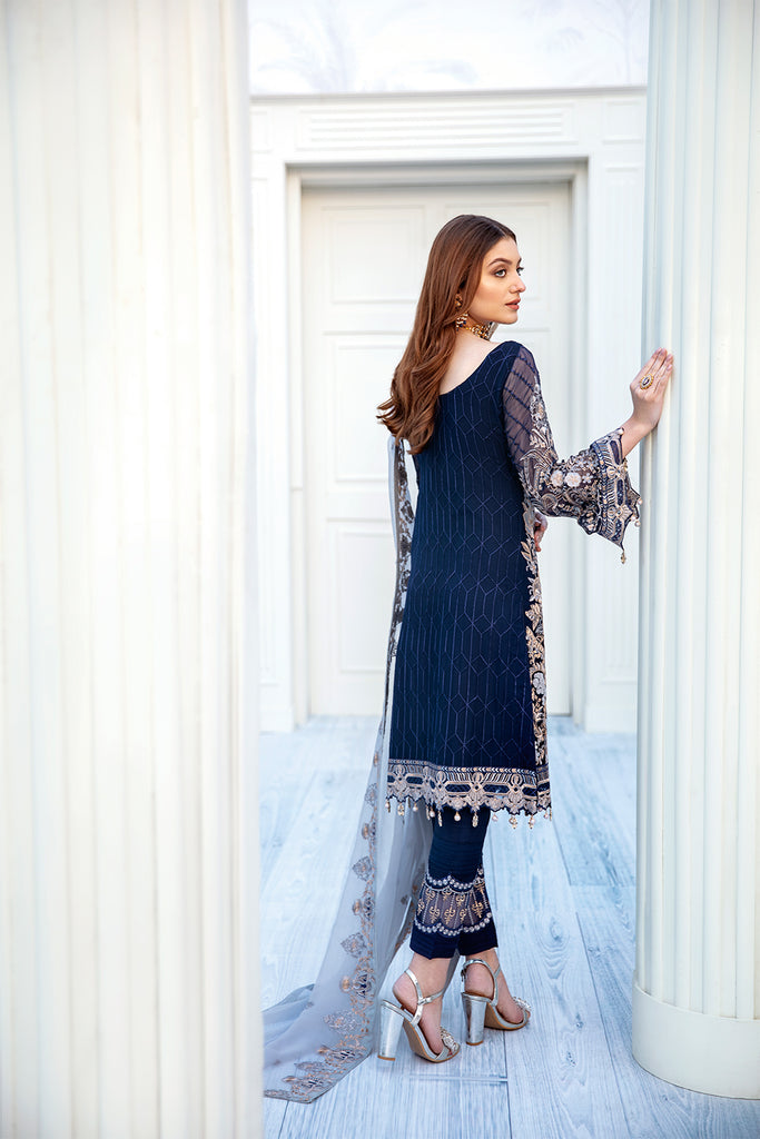 A-203 Ramsha Embroidered Chiffon Chevron Collection