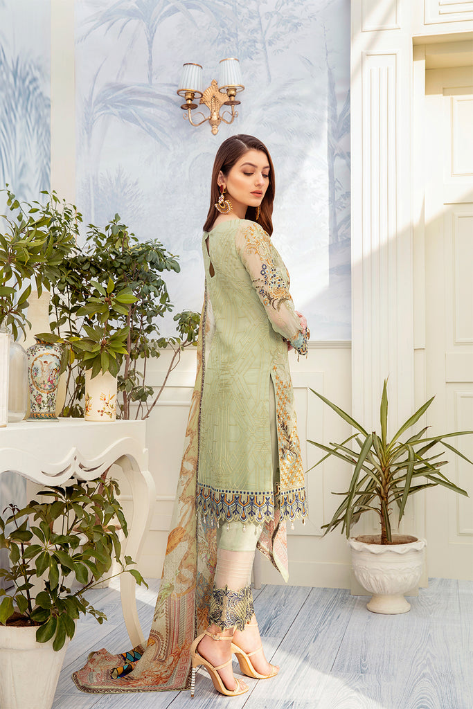 A-204 Ramsha Embroidered Chiffon Chevron Collection