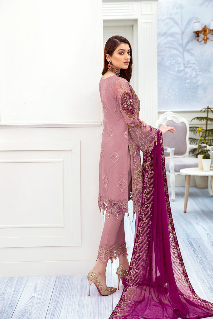 A-210 Ramsha Embroidered Chiffon Chevron Collection