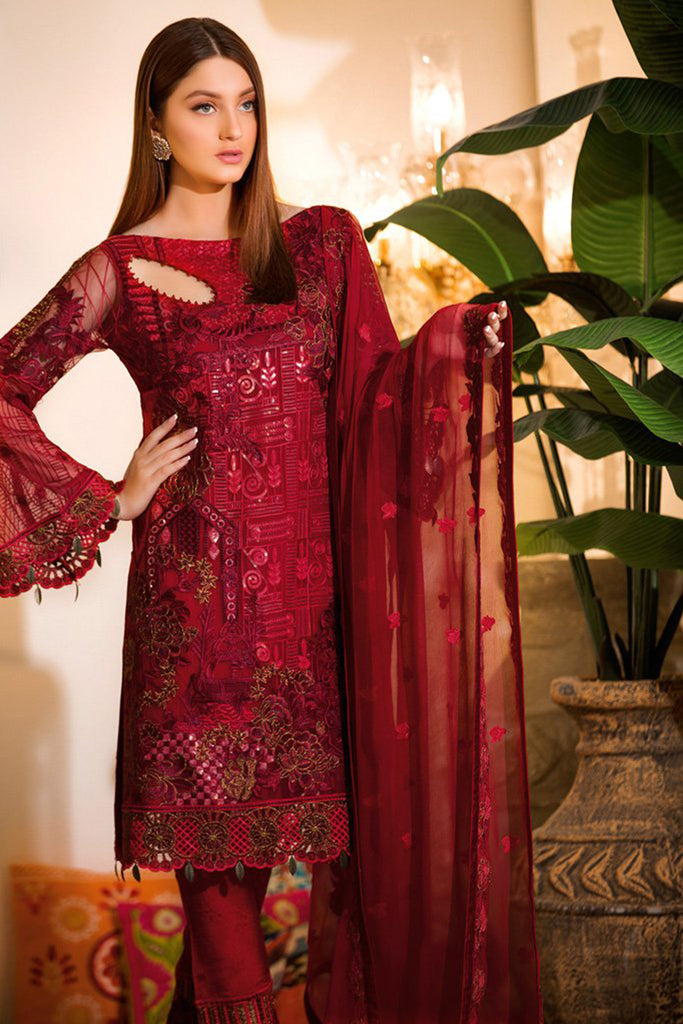 A-105 Ramsha Embroidered Chiffon Chevron Collection