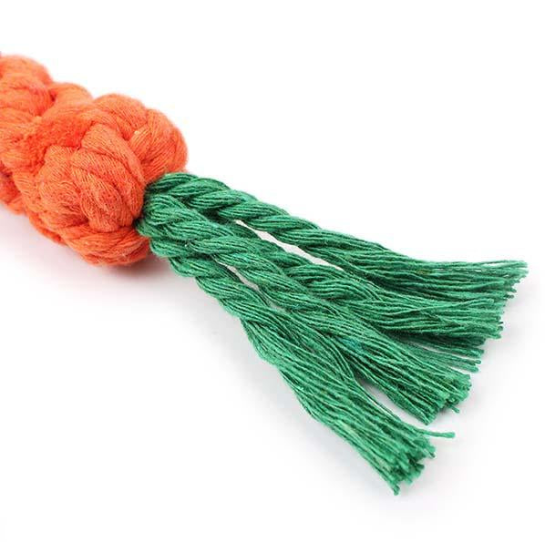"9"" Carrot Braided Dog Toy"