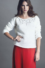 DIAMOND SWEATER - LOVELY LOUISA - MeMata  - 1
