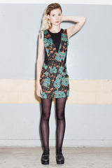 GEOMETRY FLORAL DRESS - VESTITE Y ANDATE - MeMata  - 1