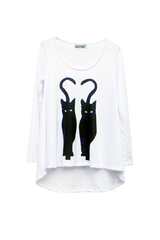 BLACK CATS T-SHIRT - VESTITE Y ANDATE - MeMata  - 3