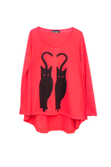 BLACK CATS T-SHIRT - VESTITE Y ANDATE - MeMata  - 4